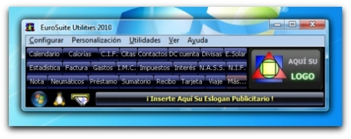 CAPTURA DEL PANEL COMPACTO DE EUROSUITE UTILITIES